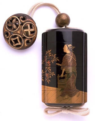 Inro by KanshosaiKan, Japan, late 18th - early 19th century. V&A Museum, London
